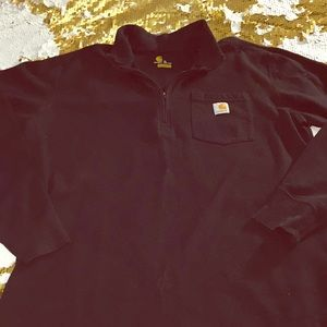Carhartt black long sleeve thermal pull over shirt
